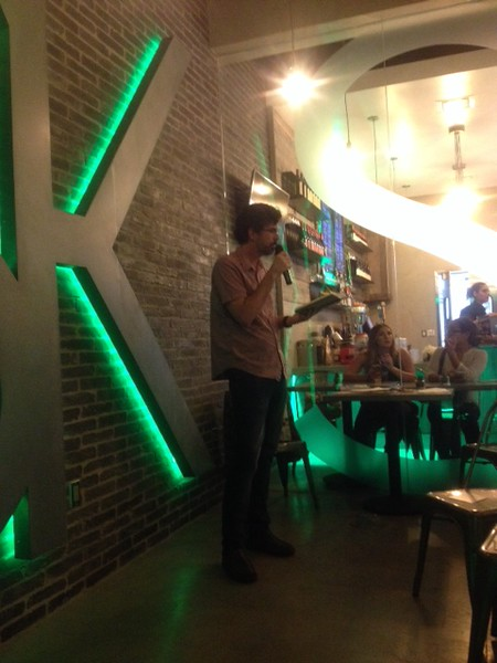 Andrew Roe (CW ALum) Reads at NoHo LitCrawl 2015