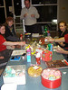 Thursday previous, at the Fall of Carthage....<br /> Melina, Kate, David, Jana. Foreground: Sophie's sugary cones of doom