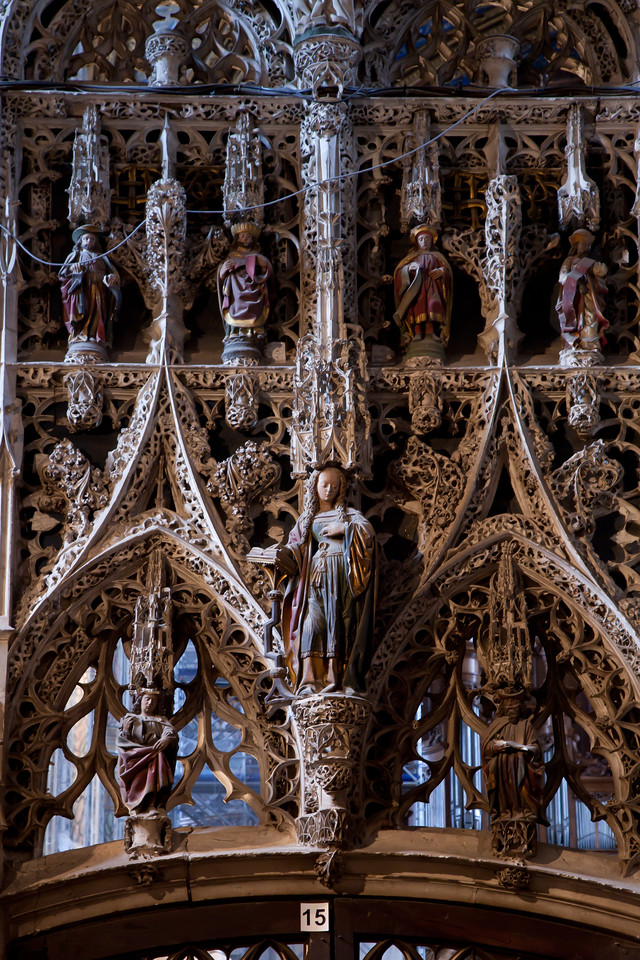 Albi Cathedral of Saint Cecilia Choir Entrance - The Virgin of the Annunciation