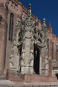 Albi Cathedral  - The Flamboyant Portico (16C)