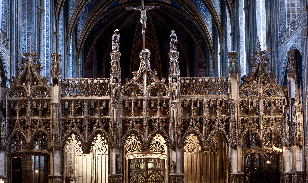 Albi Cathedral of Saint Cecilia - The Choir Screen (16C)
