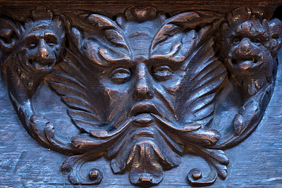 Auch Cathedral, Choir Seat Green Man