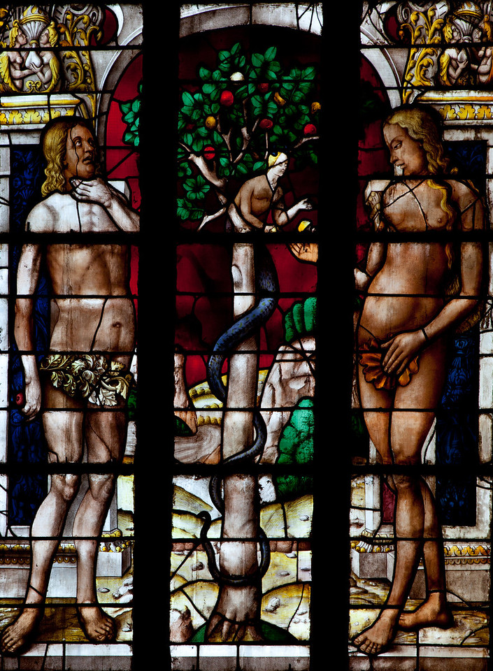 Auch Cathedral, Adam and Eve with Lilith, the Temptation
