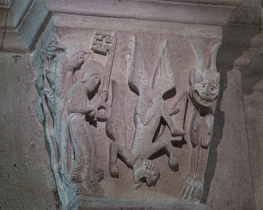 Autun, Sasint Lazarus Cathedral,  The Fall of Simon Magus