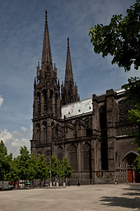 Clermont-Ferrand Cathedral West Spires
