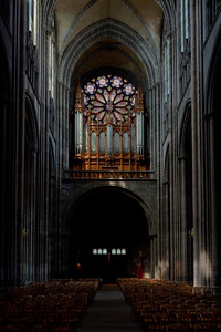 Clermont-Ferrand Cathedral Organ Loft and Rose Window