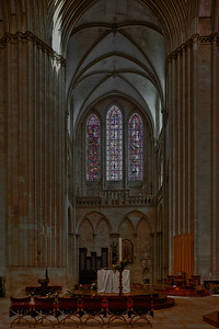 Coutances, Notre-Dame Cathedral South Transept Lancet Windows