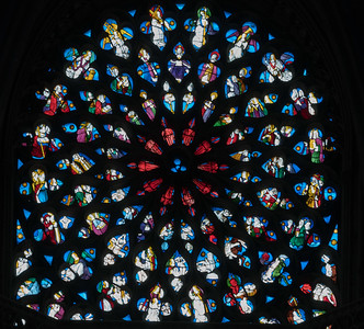 Evreux Cathedral NorthlRose Window - The Last Judgment