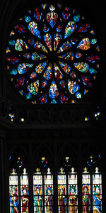 Evreux Cathedral - The North Rose Window, The Rose of Paradise with the Coronation of The Virgin