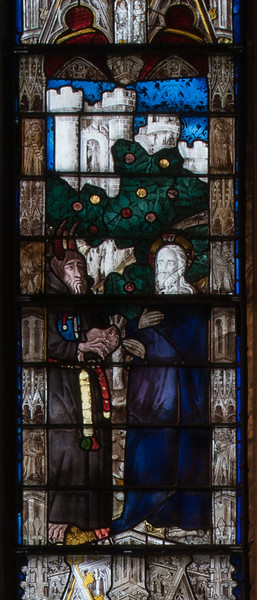 Evreux Cathedral, Axial Chapel - Scenes from the Adult Life of Christ , The Temptation of Christ