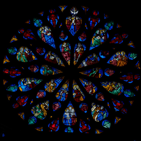 Evreux Cathedral Rose Window - The Coronation of The Virgin