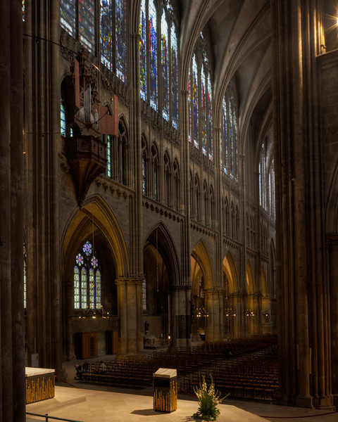 Metz Cathedral of Saint Stephen Nave Elevation