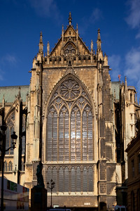 Metz Cathedral of Saint Stephen South Transept Facade