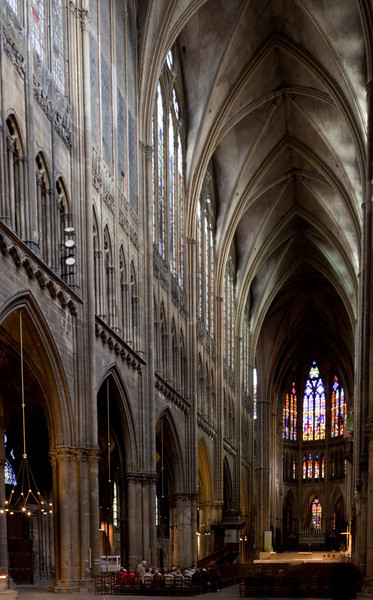Metz Cathedral - The Nave North Elevation & Choir