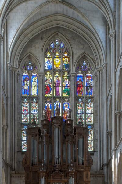 Eu, Collégiale Notre-Dame and Saint-Lawrence West Facade Windows