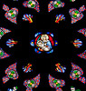 Rodez, Notre-Dame Cathedral Rose Window Virgin and Child
