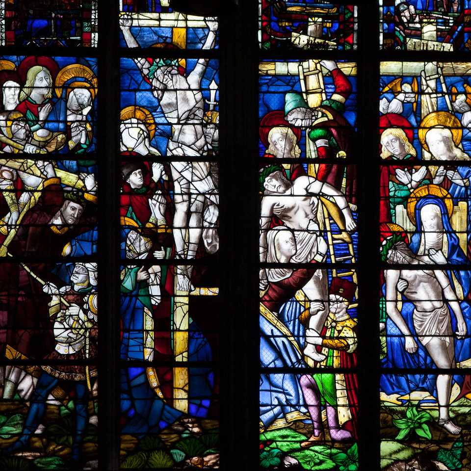 Rouen, Notre-Dame Cathedral Crucifixion, Descent from the Cross and Lamentation