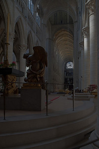 Rouen, Notre-Dame Cathedral View from behind the Altar