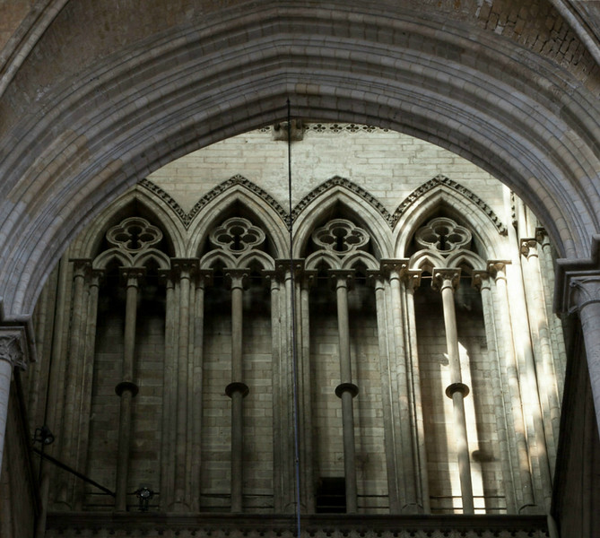 Rouen, Notre-Dame Cathedral  Lantern Triforium