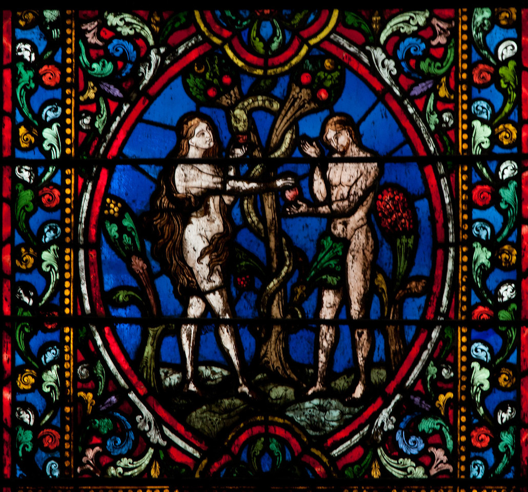 Vienne, Saint-Maurice Cathedral Adam and Eve, The Temptation