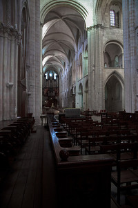 Caen Abbaye-aux-Hommes Choir, Crossing and Nave