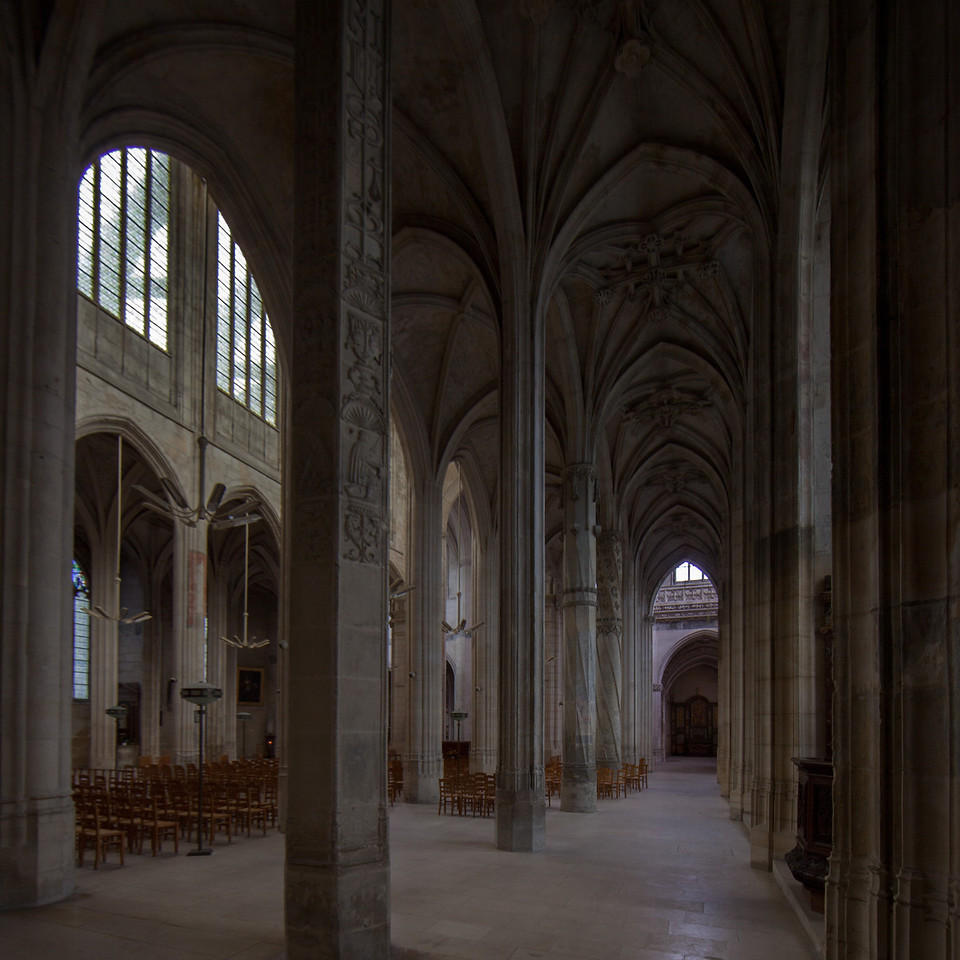 Gisors, Saint-Gervais-Saint-Protais Church Aisle and Vaults