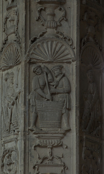 Gisors, Saint-Gervais-Saint-Protais Church Column Relief