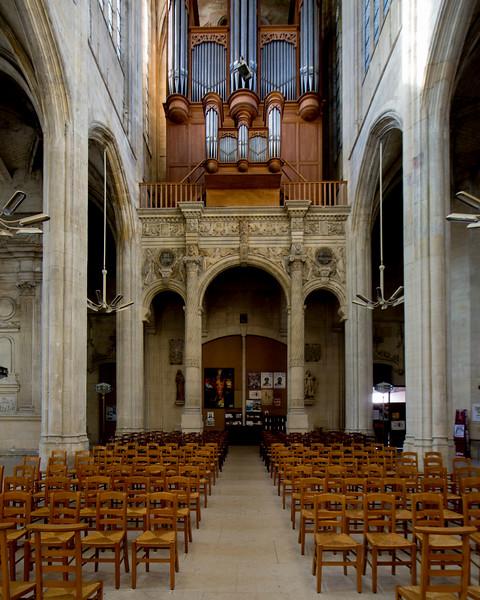 Gisors Central Aisle and Organ Loft