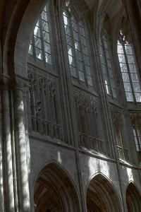 Mont Saint-Michel Choir Triforium and Clerestory