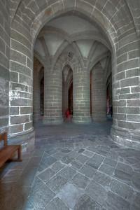 Mont Saint-Michel Choir Supporting Columns
