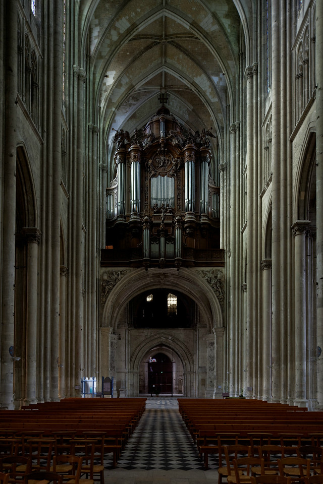 Saint-Quentin Basilica Nave and Organ Loft