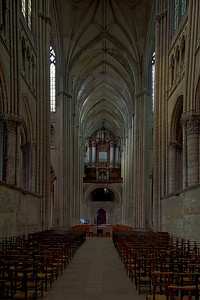 Saint-Quentin Basilica Choir, Nave and Organ Loft