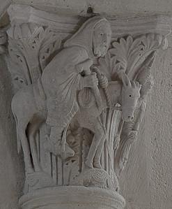 Saulieu, Saint-Androche Abbey, Balaam and his Donkey