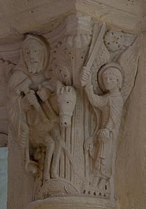 Saulieu Abbey of Saint-Androche Capital, Balaam and His Donkey