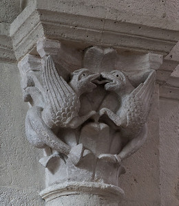 Saulieu Abbey of Saint-Androche Capital, Birds