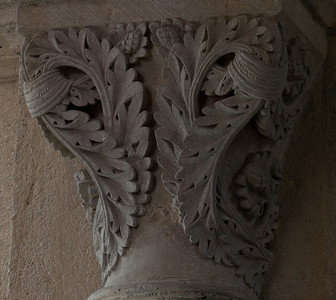 Saulieu Abbey of Saint-Androche Capital, Acanthus Leaves