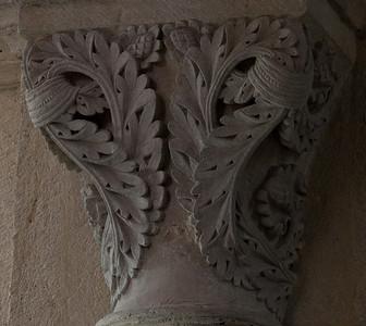 Saulieu Abbey of Saint-Androche Capital, Acanthus Leaves
