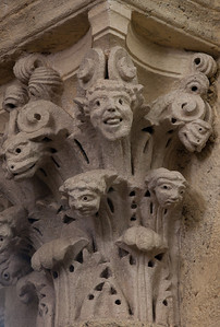 Saulieu Abbey of Saint-Androche Capital, Faces