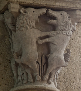 Saulieu Abbey of Saint-Androche Capital, The Farting Bears