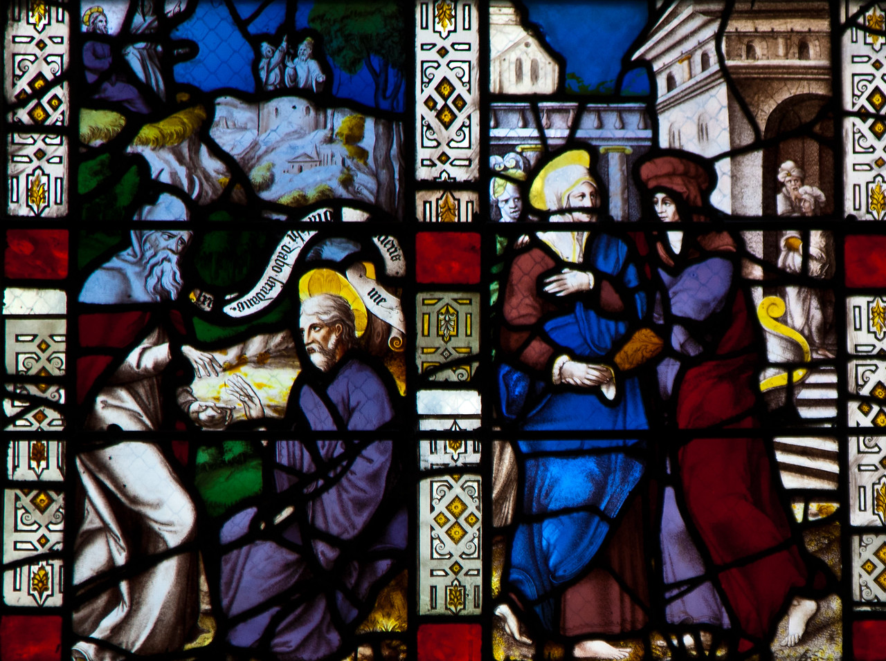 Troyes - Saint-Jean-au-Marche - The Passion Window - Visitation & Unindentified Scene