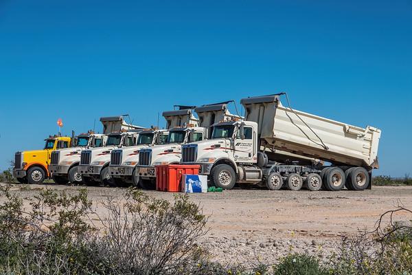 Border Wall Bullshit. El Camino Del Diablo, Barry Goldwater Range & Cabeza Prieta, Yuma County Arizona USA