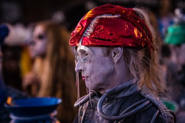 Katie Popiel, urn attendant. 25th Annual All Souls Procession 2014, Tucson, Arizona USA