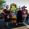 Herminia Robichaud (left) and Evangelina Dominquez. 25th Annual All Souls Procession 2014, Tucson, Arizona USA