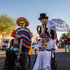 Sharon Leslie (lower right). 25th Annual All Souls Procession 2014, Tucson, Arizona USA