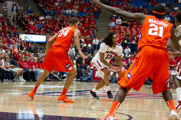 Jesse Perry - 33. Arizona vs Clemson basketball 10Dec2011