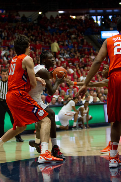 Angelo Chol - 30. Arizona vs Clemson basketball 10Dec2011