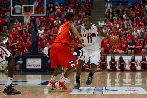 Josiah Turner - 11. Arizona vs Clemson basketball 10Dec2011