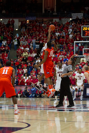 Tip Off, Jesse Perry - 33 & Booker. Arizona vs Clemson basketball 10Dec2011