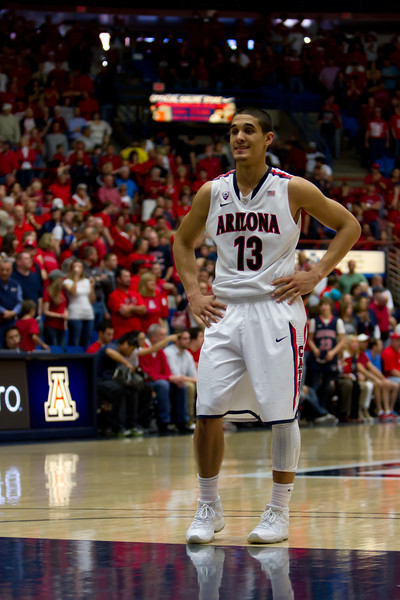 Nick Johnson (13). Arizona vs Utah basketball 11Feb2012
