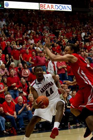 Salomon Hill (44). Arizona vs Utah basketball 11Feb2012